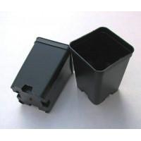 Квадратна пластмасова твърда саксия 7x7x10cm
